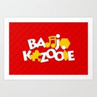 Banjo-Kazooie - Red Art Print