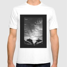 Sky  Explosion Mens Fitted Tee White SMALL