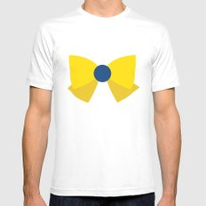 Sailor Uranus Bow Mens Fitted Tee White SMALL