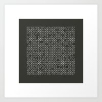 #58 Crossword  – Geome… Art Print