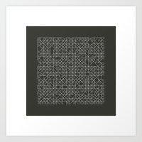 #58 Crossword  – Geome… Art Print