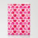 RUBY HEARTS Stationery Cards