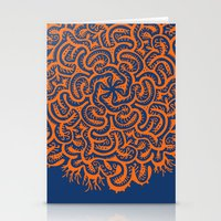 Bugs Maze (orange) Stationery Cards