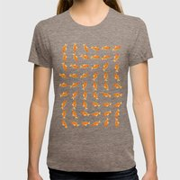 pattern goldfish Womens Fitted Tee Tri-Coffee SMALL