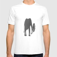 Elephant Palm Mens Fitted Tee White SMALL