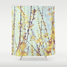 Yellow Daydreams Shower Curtain