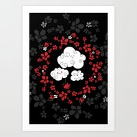 Cute Clouds Art Print