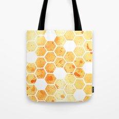 Golden Honeycomb Tote Bag