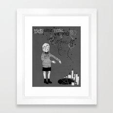 Every Little Thing She Does in black & white Framed Art Print