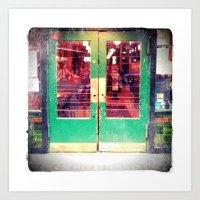 Central Saloon Doors, Pi… Art Print