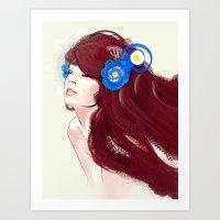 Blue Flower. Art Print
