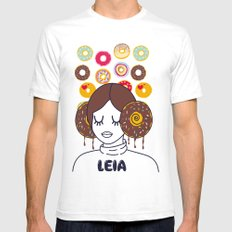Princess Donut Leia SMALL Mens Fitted Tee White