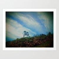 Tree,Cloud,Wind. Art Print