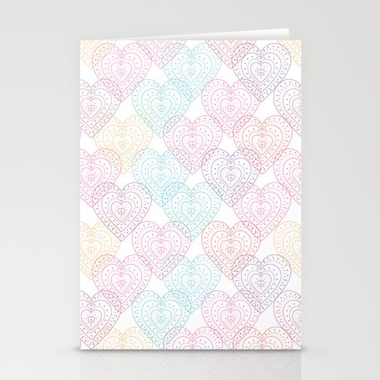 Patterns Of My Heart Stationery Card