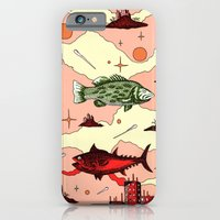iPhone & iPod Case featuring Galaxy swimmers by Grant Wilson