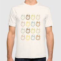 Clocks Pattern Mens Fitted Tee Natural SMALL
