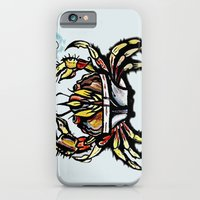 iPhone & iPod Case featuring BEWARE :crabs in underwear  by Brian J Farrell