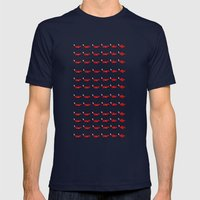 Pixel foxes Mens Fitted Tee Navy SMALL