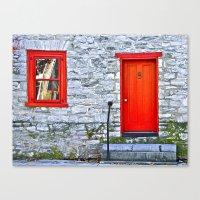Winchester Red Door Canvas Print