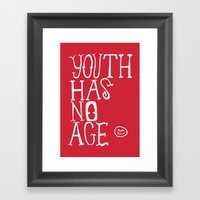 Youth Has No Age Framed Art Print