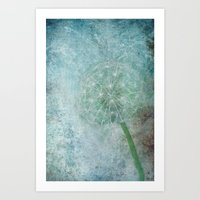 Delicate and Blue  Art Print