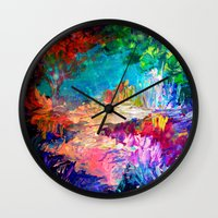 WELCOME TO UTOPIA Bold R… Wall Clock