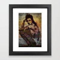 Just sitting Framed Art Print