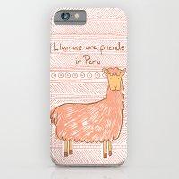 Llamas are Friends in Peru iPhone 6 Slim Case