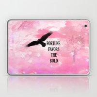 Surreal Fantasy Pink Nature Raven Typography Laptop & iPad Skin