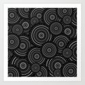 Black and White Mandala Pattern Art Print