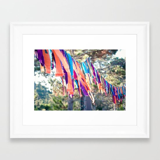 Flags of the Sisterhood Framed Art Print