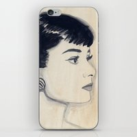 Audrey (watercolor) iPhone & iPod Skin