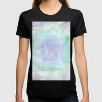 Lagoon, Refraction Womens Fitted Tee Tri-Black SMALL