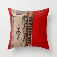 Bob Dylan's Harmonica  Throw Pillow