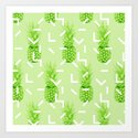 Summer Pineapples Art Print