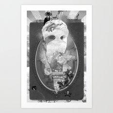 WHITEOUT zine Art Print