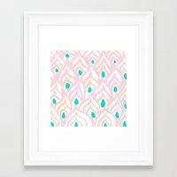 PRINCESS PEACOCK Framed Art Print