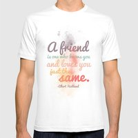 Friendship | Elbert Hubb… Mens Fitted Tee White SMALL
