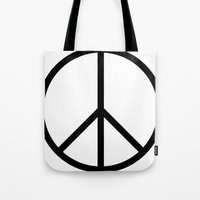 CND Peace Symbol Tote Bag