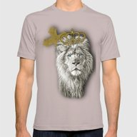 Lion Of Judah Mens Fitted Tee Cinder SMALL