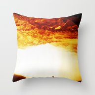 Gold Greed Throw Pillow