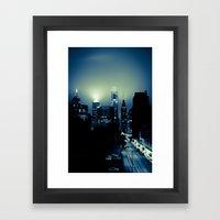 Philly Glow Framed Art Print