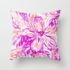 HOT STUFF FLORAL Throw Pillow