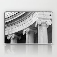 Classical marble columns in black and white Laptop & iPad Skin