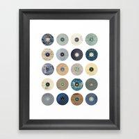 Vinyl Record Collage Framed Art Print