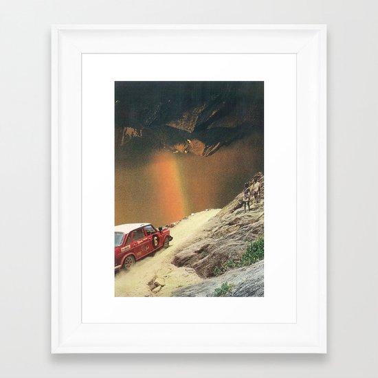 rainbow falls Framed Art Print