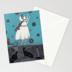 Between the Woods and Frozen Lake Stationery Cards