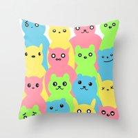 Animal Friends Throw Pillow