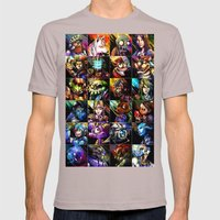 Videogame MashUP Mens Fitted Tee Cinder SMALL
