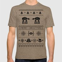 May the Christmas Spirit be with you. Mens Fitted Tee Tri-Coffee SMALL